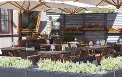 Restaurant& x27; s wnętrze w Włoskim stylu Zdjęcia Stock