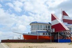 Restaurant Santa Maria auf Ufern des See-Heiligen in Mogilev Lizenzfreies Stockfoto