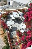 Restaurant. Santorini Royalty Free Stock Photography