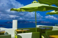Restaurant on Santorini Royalty Free Stock Photo