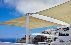 Restaurant on Santorini Stock Photography