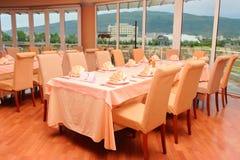 Restaurant scene royalty free stock photo