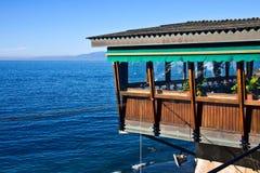 Restaurant on the sea Royalty Free Stock Photo