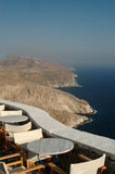 Restaurant by the sea greek cyclades islands Royalty Free Stock Images