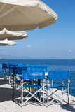 Restaurant by the Sea in a Greek Island Royalty Free Stock Images