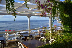 Restaurant sea panoramic view Stock Photography