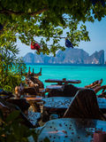 Restaurant on the sea Royalty Free Stock Photography