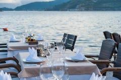 Restaurant on sea shore Royalty Free Stock Photo