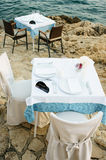 Restaurant by the sea Stock Photo