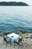 Restaurant by the sea Stock Image