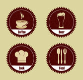 Restaurant seals Royalty Free Stock Photos