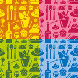 Restaurant seamless pattern Royalty Free Stock Photography