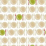 Restaurant seamless pattern background Royalty Free Stock Photos