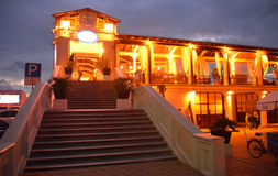 Restaurant in the seaport of Sochi, Russia Stock Photography