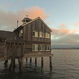 A Restaurant in Seaport Village at Dusk Stock Photography