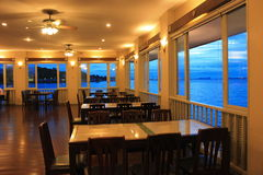 Restaurant seaside. Royalty Free Stock Photography