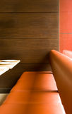 Restaurant seating Stock Photo