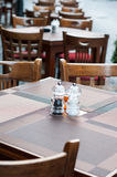 Restaurant seats and tables Royalty Free Stock Image