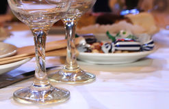 Restaurant: Served table Royalty Free Stock Photos