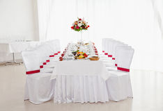 Restaurant Served table for wedding Royalty Free Stock Photography