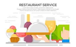 Restaurant service concept illustration. Stock Photography