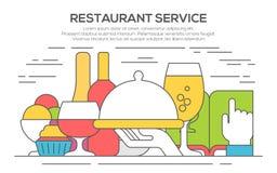Restaurant service concept illustration. Royalty Free Stock Photos