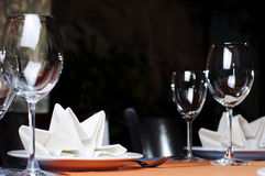 Restaurant serving Royalty Free Stock Images