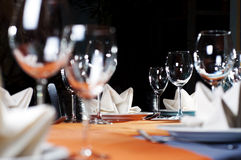 Restaurant serving. Photo of professional restaurant serving Royalty Free Stock Photo