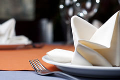 Restaurant serving. Photo of professional restaurant serving Royalty Free Stock Image