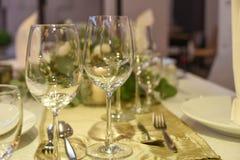 Restaurant set. A dining table restaurant set Stock Images