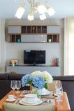 Restaurant set with Luxury Interior living room background Stock Photos