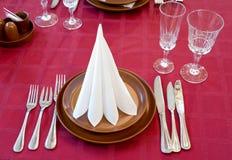 Restaurant setting Royalty Free Stock Image