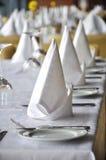 Restaurant setting Stock Photo