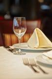 Restaurant setting Stock Photography