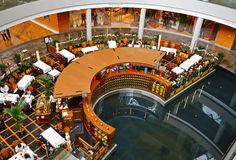 Restaurant in shopping mall Stock Images