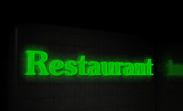 Restaurant sign Stock Photo