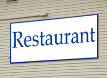Restaurant Sign Royalty Free Stock Photos