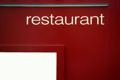 Restaurant sign Royalty Free Stock Image