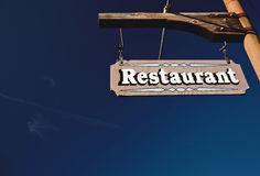 Restaurant Sign Royalty Free Stock Photo