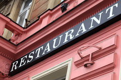 Free Restaurant Sign On A Wall Royalty Free Stock Image - 40410626