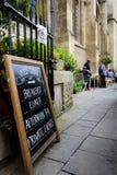 Restaurant sign, Oxford Stock Photos