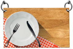 Restaurant Signboard with clipping path Stock Photography