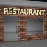 Restaurant signboard Royalty Free Stock Photos