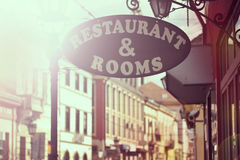 Restaurant signboard Royalty Free Stock Image