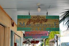 Restaurant signs in Key west. Image of restaurant signs in key west florida, outside Jimmy Buffett's Margarritaville restaurant stock images