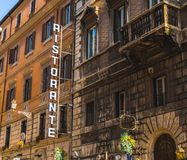 Restaurant Signs in Rome Stock Images