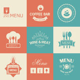 Restaurant signs Royalty Free Stock Images