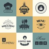 Restaurant signs Stock Photography