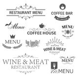 Restaurant signs Royalty Free Stock Photography