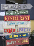 Restaurant signs Royalty Free Stock Photo